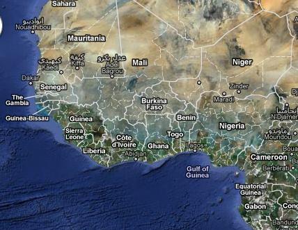 Google Map of Ghana