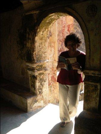 Mrs. Higgins reading in a muslim classroom in Mombasa, Kenya