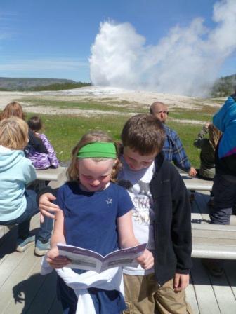 J & M at Old Faithful, Yellowstone Nat'l Park