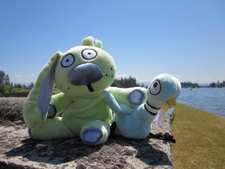 Knufflebunny & Pigeon at Lake Tapps