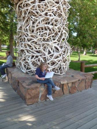 Mackenzie at Antler Arch, Jackson, WY