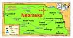 EnchantedLearning map of Nebraska.