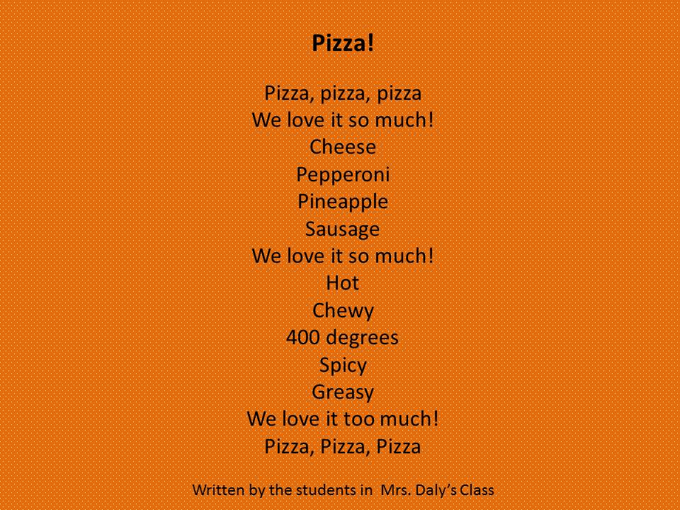 pizza poem