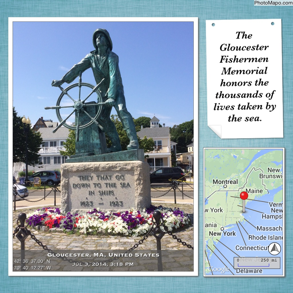 The Gloucester Fishermen Memorial honors the thousands of lives taken by the sea.