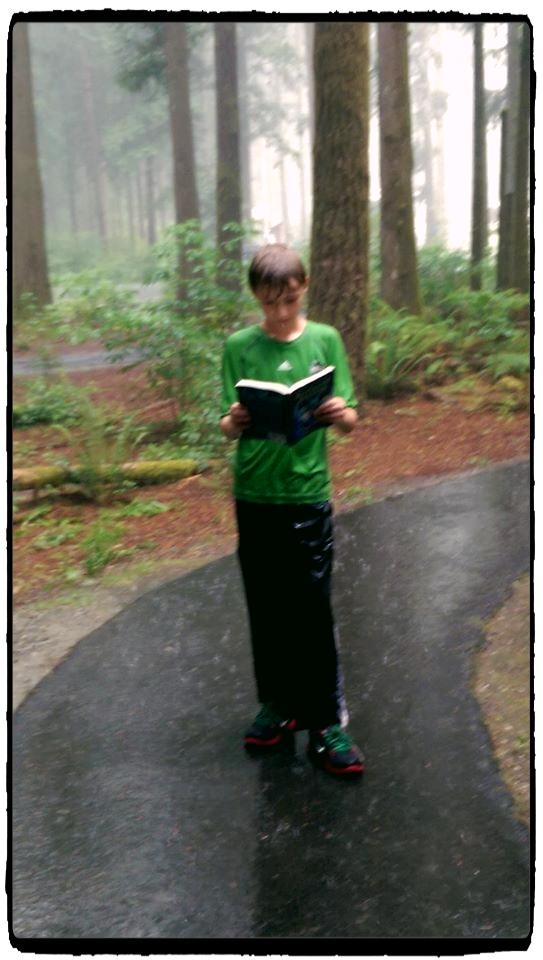 gabe in rain