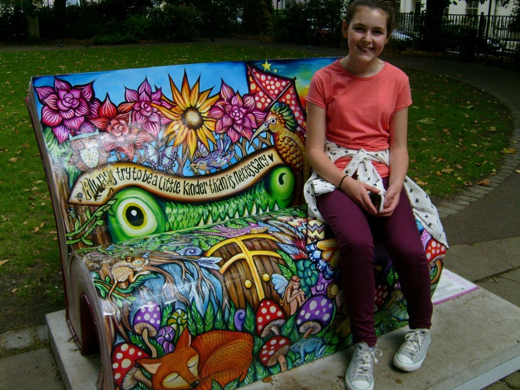 bench with girl