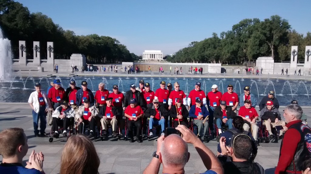 Veterans honored at the World War ii memorial in Washington,DC. Ohoto by Joe Hembree